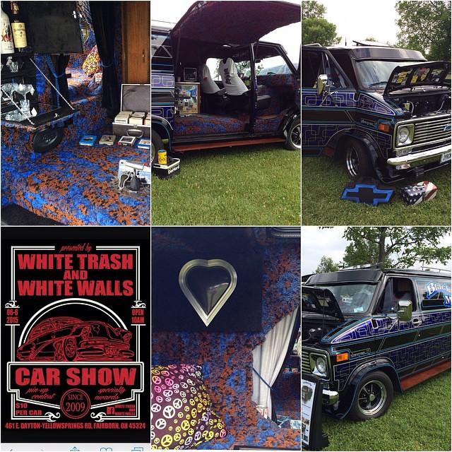 had a great time the white trash and white walls car show today got best interior was taped. Black Bedroom Furniture Sets. Home Design Ideas