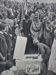 1921, Bligny, L' Ambasciatore Lelio Bonin Longare pone la prima pietra del monumento dei caduti