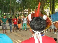 Recepção dos discentes indígenas da Ufopa em 2014