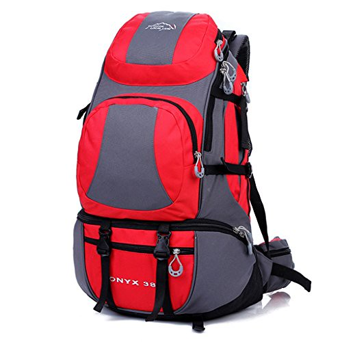Paladineer Outdoor Sports Bag Hiking Backpack Cycling Backpack Daypack 38-liters Red