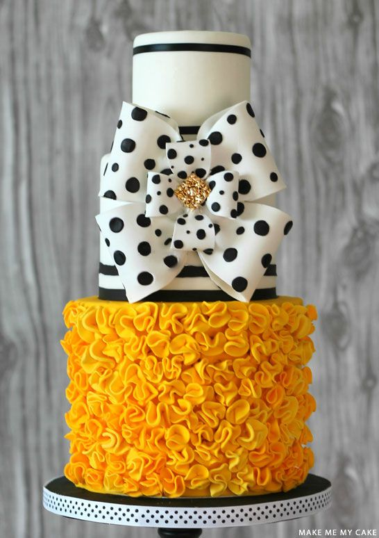 Black & White Polka Dot Cake by Make Me My Cake