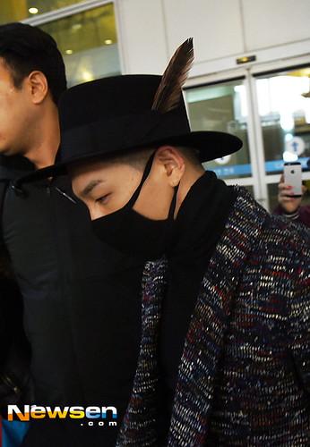 Big Bang - Incheon Airport - 22mar2015 - Tae Yang - Newsen - 03