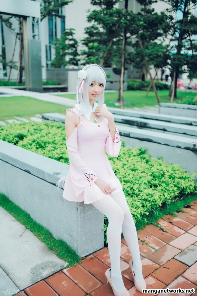 29278467355 223a6d033a o [ Tổng hợp ] Bộ ảnh cosplay của Emilia của Coser ASAKI   Dễ thương đến mê hồn