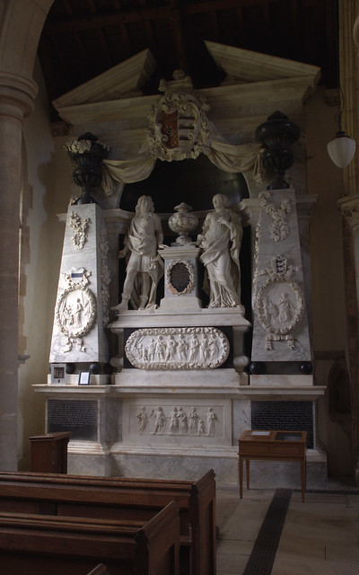 Exton, Rutland, Church of St. Peter and St. Paul, monument to Baptist Noel, 3rd viscount Campden, †1683 October 9