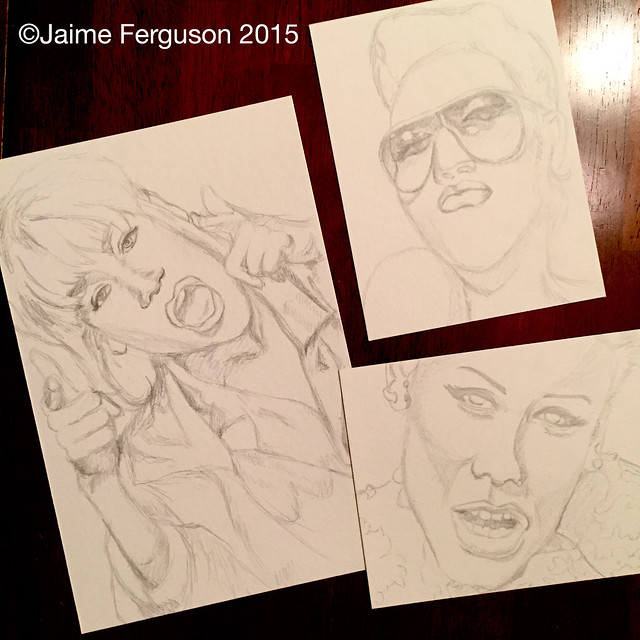 Three Pencil Sketches
