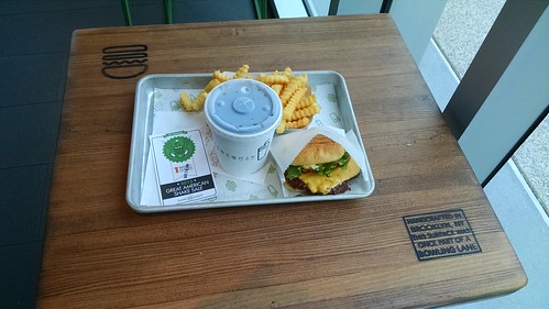 My meal at the Shake Shack in Baltimore before the march.