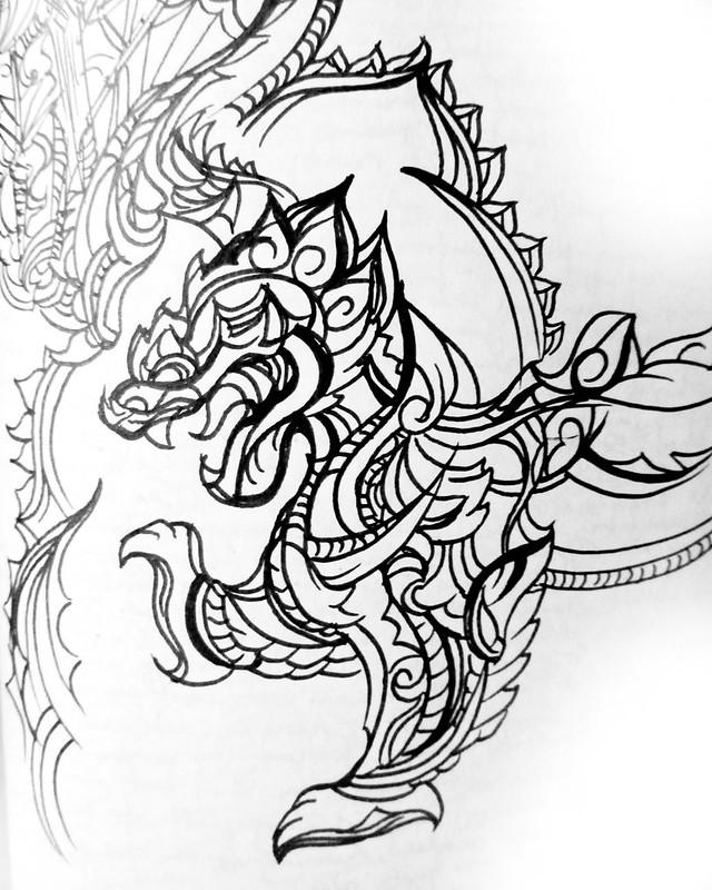 Thailand Lion: 5 minute sketch
