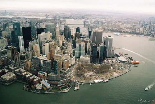 Вид на Манхеттен с вертолета. Manhattan from Helicopter. New York. USA