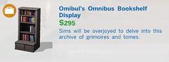 Omibul's Omnibus Bookshelf Display