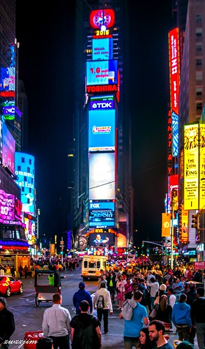 The night view of Times Square 02, NY, USA