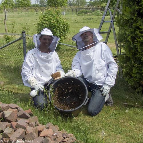 Een emmer vol bijen!
