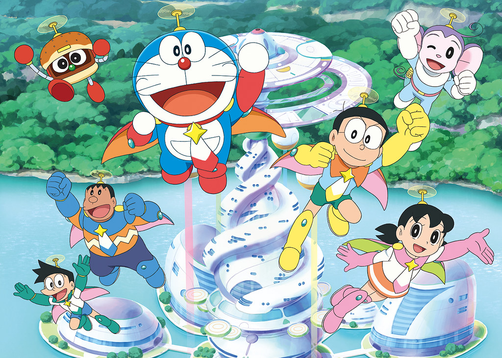 how to draw nobita and his friends