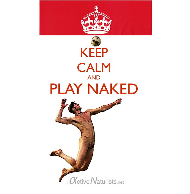 naturist KEEP CALM & PLAY NAKED
