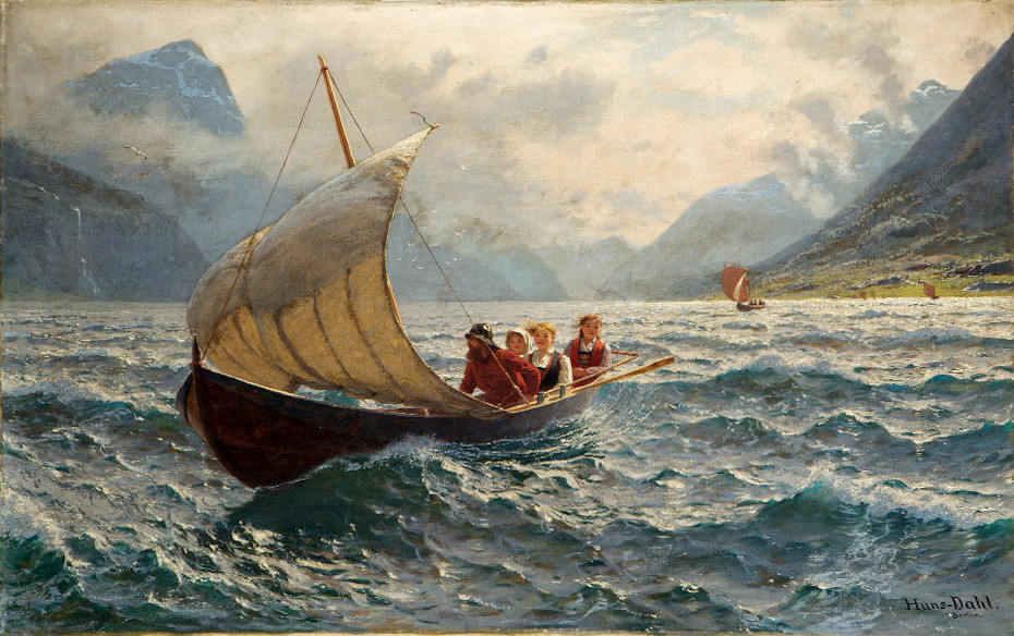 Fresh Breeze, Norway by Hans Dahl, 1900