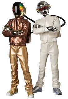 MEDICOM TOY【RAH 傻瓜龐克 DISCOVERY Ver.2.0】1/6 比例經典Daft Punk 收藏人偶作品