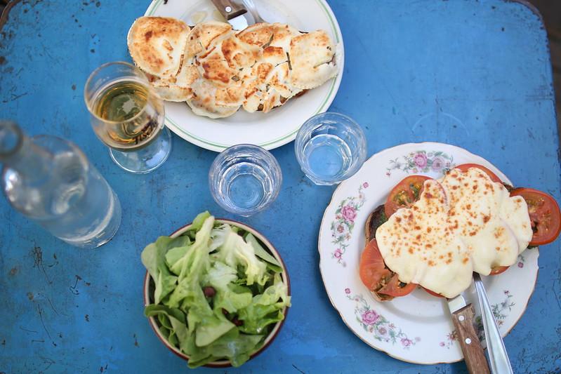 Provence cyling Avignon ginette et marcel restaurant 4