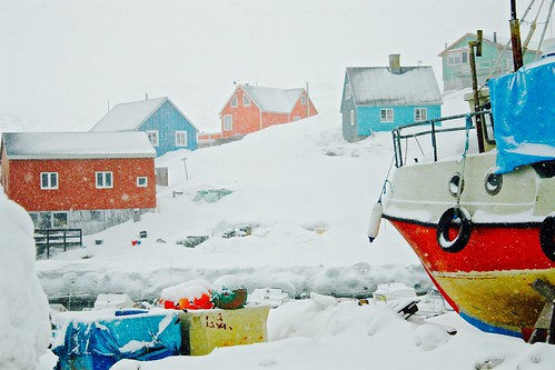 houses urban white snow color landscape pier boat colorful village view harbour arctic greenland climate groenland maniitsoq qeqqata clicheforu thisisgreenland