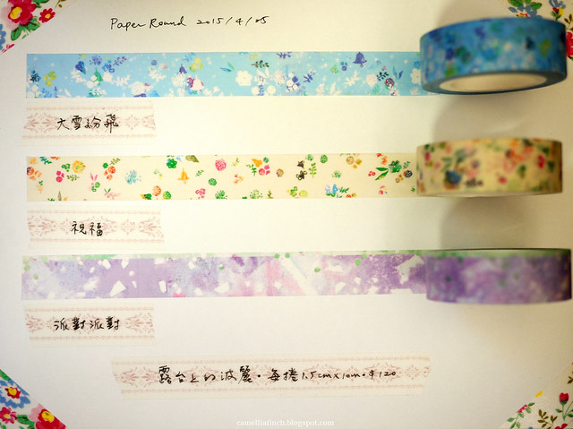 Paper Round 2015/4/25 bought masking tapes