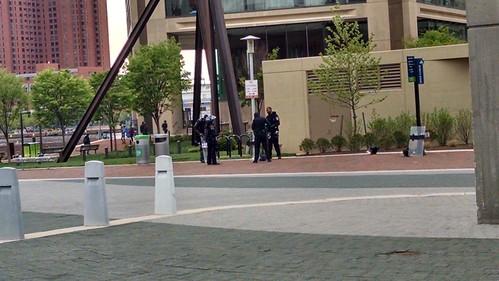 Outside the Baltimore World Trade Center.