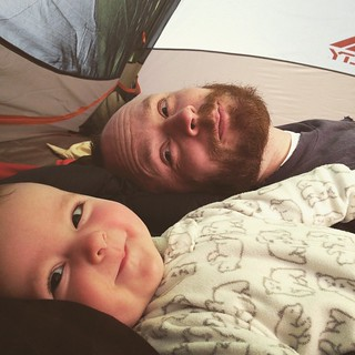 Tent mornings. Finn slept like a champ. #campingwithbabies #babesinthewoods #backyardcamping