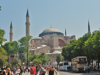 Hagia Sophia on Beautiful Spring Day