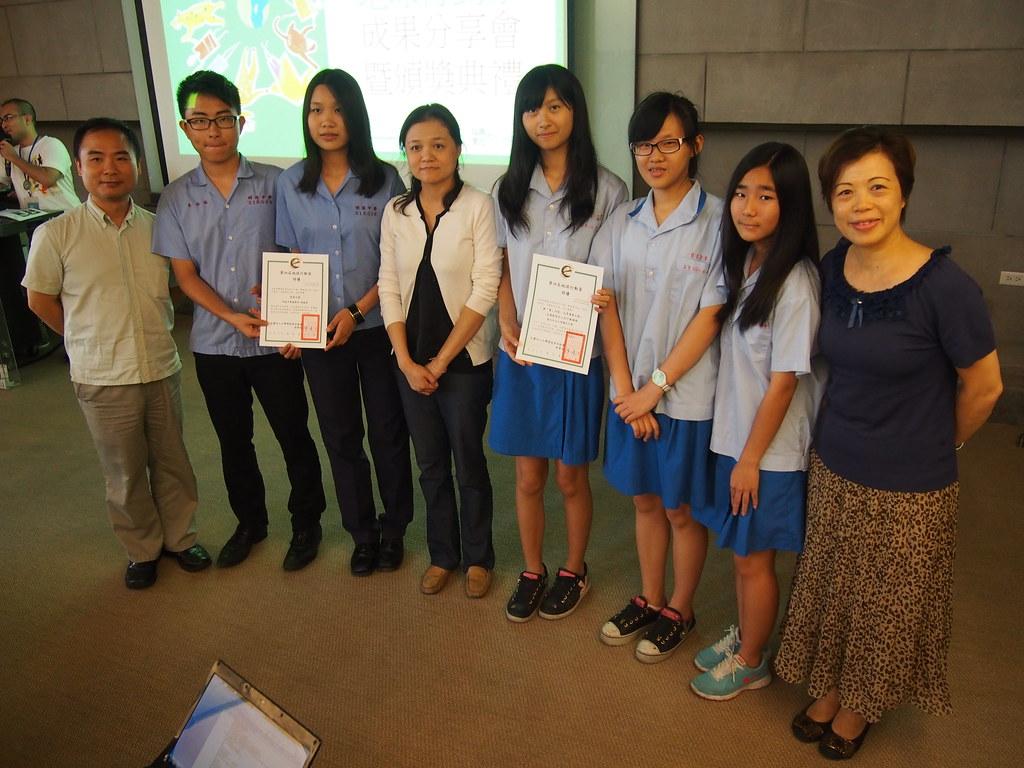 國高中組得獎者合照