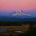 Sunset's Afterglow on Mt. Rainier by louelke - gone a lot
