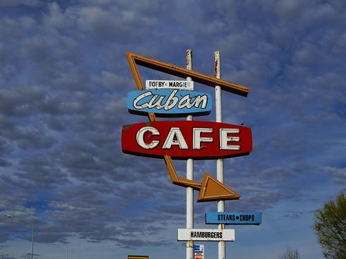newmexico sign restaurant cafe neon cuba roadtrip neonsign cubancafe fadingamerica
