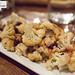 Roast cauliflower with almonds, pickled raisins, parsley