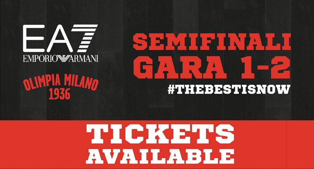Semifinali: in vendita i biglietti per Gara1 e Gara2