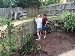 05-23-15 - Tom and Gene take the fence out