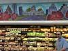 Trader Joe's at Seaholm: Austin Skyline Mural by escriteur