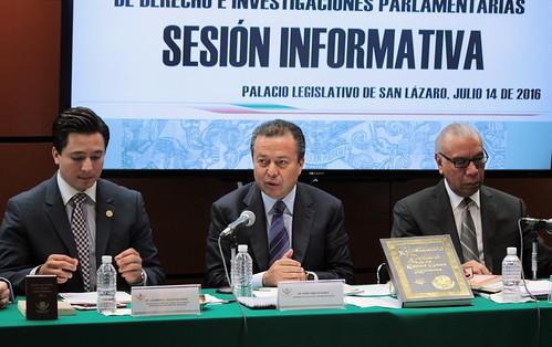 El día 14 de julio del 2016 se llevó a cabo en la H. Cámara de Diputados la sesión informativa del Centro de Estudios de Derechos e Investigaciones Parlamentarias.