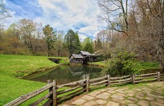 Springtime at Mabry Mill, in southern Virginia