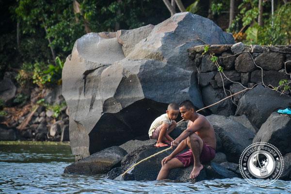 Locals Fishing in Islets in Nicaragrua