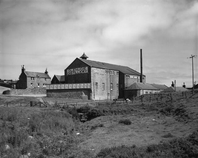 Glenugie Distillery in Peterhead, Aberdeenshire, Scotland in 1972. Closed in 1983.