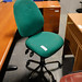 Green 2 lever office chair