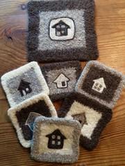Set of coasters/hotpad by my pal Sue Kranz