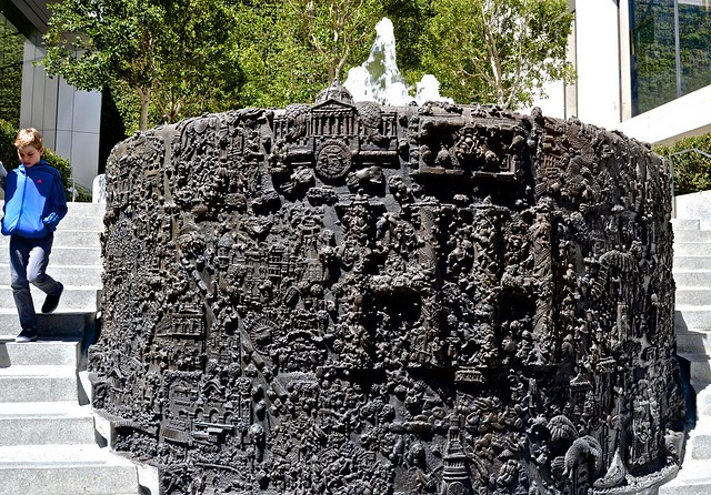 San Francisco, Union Square, fountain, Ruth Asawa,  relief items places in San Francisco
