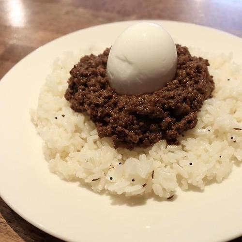 半熟玉子のキーマカレー #hagiso