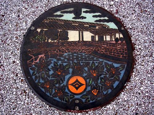Ishibe Shiga, manhole cover (滋賀県石部町のマンホール)