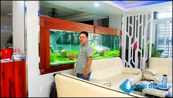 hồ thủy sinh dài 4m tại nhà A.Hiếu