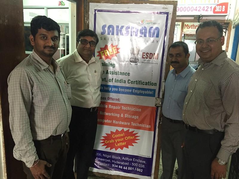 Sujiv Nair (CEO TASK) visit to Saksham Center