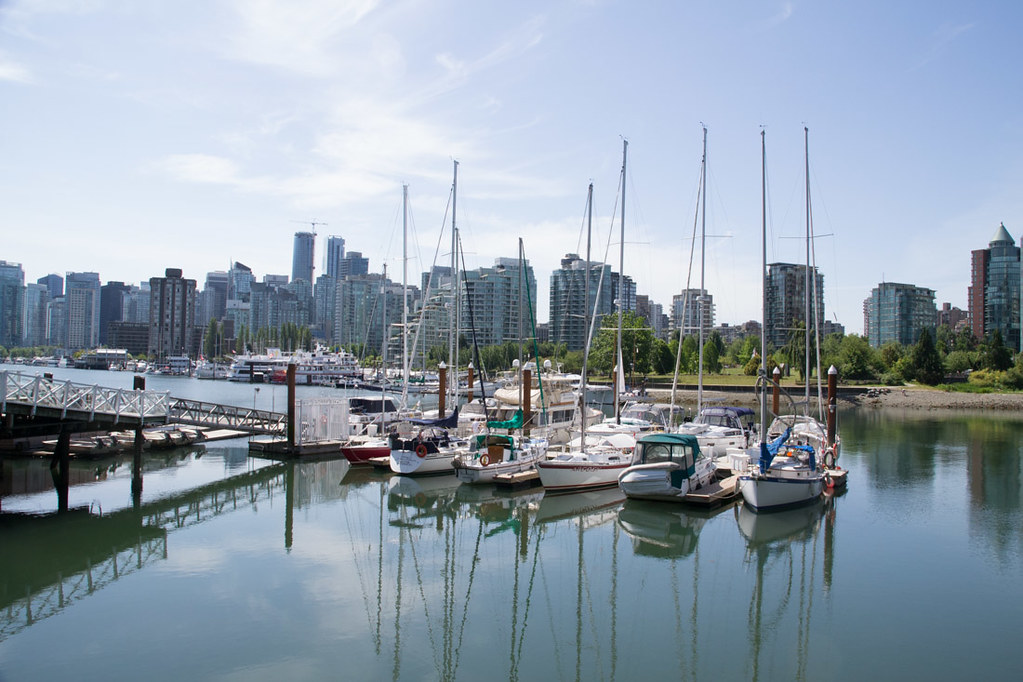 Sailboats and Skylines at Stanley Park in Vancouver