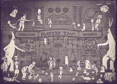 Dwellings - Inside Line Art