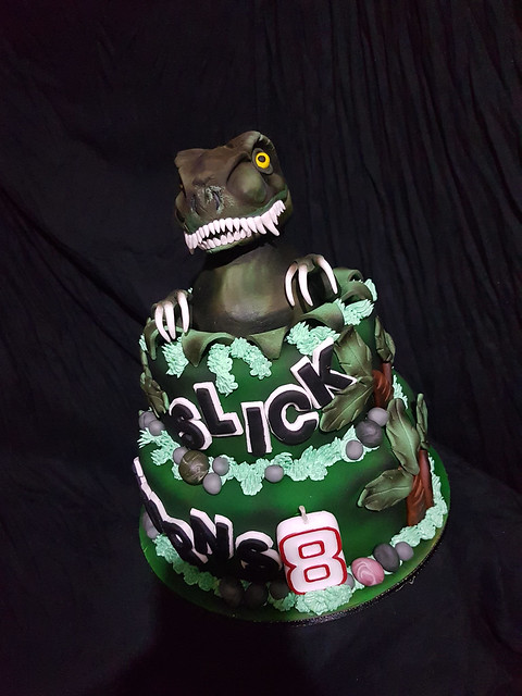 All Edible Dinosaur Cake by John Cedric Angcaway