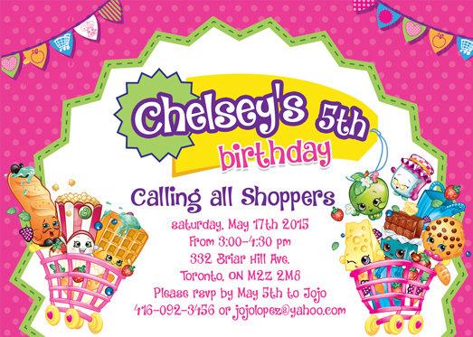 Shopkins Custom Birthday Invitation a photo on Flickriver