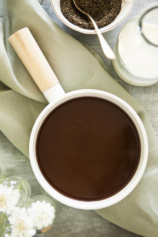 coconut cream and chocolate