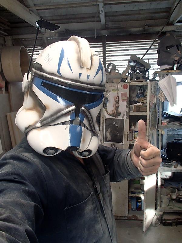 Captain Rex Helmet Selfie