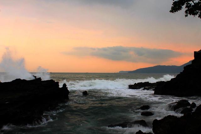 The Waves in Karang Hawu Beach